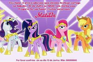 Convite digital personalizado My Little Pony 007