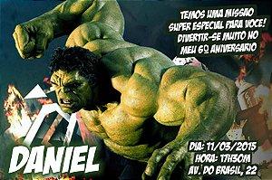 Convite digital personalizado O Incrível Hulk 009