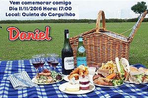 Convite digital personalizado Picnic 009