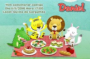 Convite digital personalizado Picnic 010