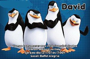 Convite digital personalizado Pinguins de Madagascar 006