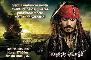 Convite digital personalizado Piratas das Caraíbas 002
