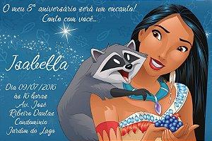 Convite digital personalizado Pocahontas 003