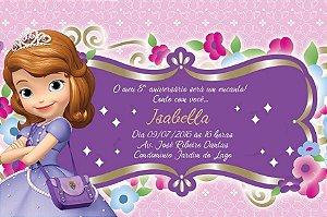 Convite digital personalizado Princesa Sofia 011