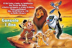 Convite digital personalizado Rei Leão 011