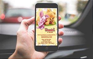 Convite personalizado para WhatsApp Baby Pooh
