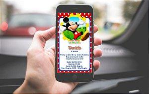 Convite personalizado para WhatsApp A Casa do Mickey Mouse