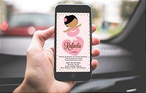 Convite personalizado para WhatsApp Bailarina 002