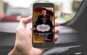 Convite personalizado para WhatsApp Super Homem