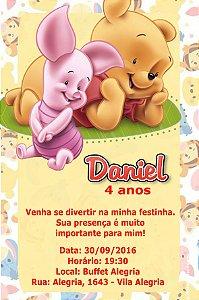 Convite digital personalizado Baby Pooh 012