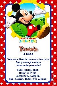 Convite digital personalizado A Casa do Mickey Mouse 010