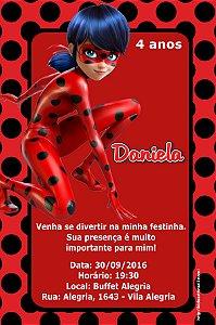 Convite digital personalizado Miraculous: As Aventuras de Ladybug 006