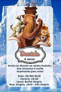 Convite digital personalizado A Era do Gelo 015