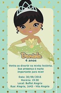 Convite digital personalizado A Princesa e o Sapo 011