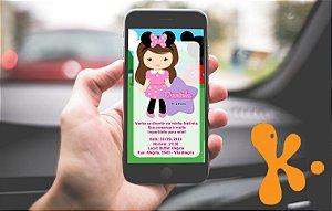 Convite personalizado para WhatsApp A Casa do Mickey Mouse 002