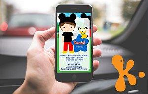 Convite personalizado para WhatsApp A Casa do Mickey Mouse 005