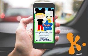 Convite personalizado para WhatsApp A Casa do Mickey Mouse 007