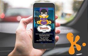 Convite personalizado para WhatsApp Batgirl ou Batmoça 002