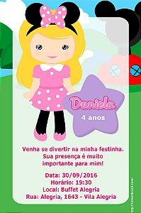 Convite digital personalizado A Casa do Mickey Mouse  013