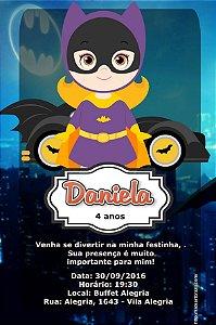 Convite digital personalizado Batgirl ou Batmoça 002