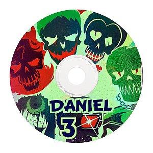 Rótulo adesivo personalizado para CD/DVD - Esquadrão Suicida
