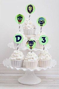 Tag personalizada para cupcake Esquadrão Suicida
