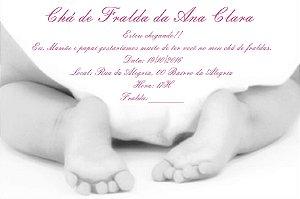 Convite digital personalizado Chá de Fraldas 001