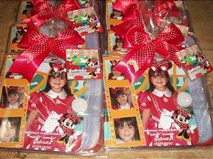Porta CD/DVD personalizado Minnie Vermelha