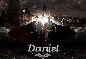 Painel personalizado 1,20 m x 0,80 m Batman Vs Superman
