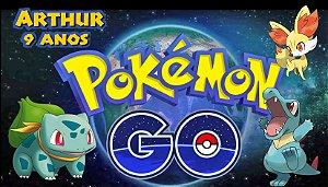 Adesivo personalizado para Bolinha de Sabão Pokémon GO