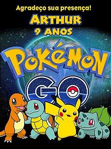 Adesivo de bolsa de saida perdonalizado Pokémon GO