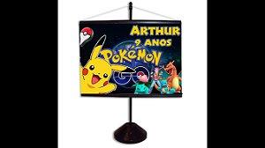 Mini banner personalizado 10x15 Pokémon GO