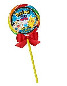 Adesivo personalizado para pirulito Pokémon GO