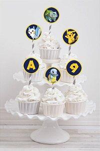 Tag personalizada para cupcake Pokémon GO