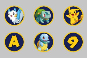 Tag personalizada para docinhos Pokémon GO