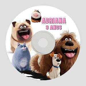 Rótulo adesivo CD/DVD - A Vida Secreta dos Bichos
