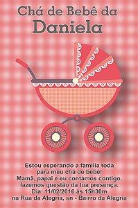 Convite digital personalizado para Chá de Bebê 052