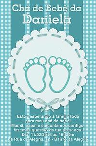 Convite digital personalizado para Chá de Bebê 053