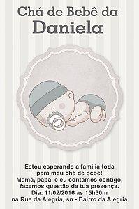 Convite digital personalizado para Chá de Bebê 054