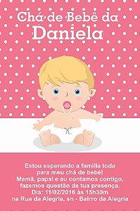 Convite digital personalizado para Chá de Bebê 055