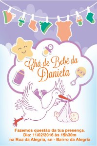 Convite digital personalizado para Chá de Bebê 057