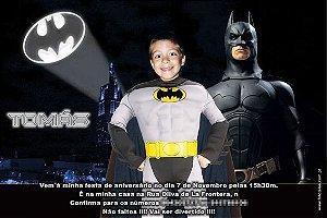 Convite com montagem do Batman