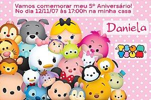 Convite digital personalizado Tsum Tsum 001