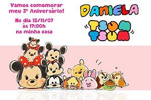 Convite digital personalizado Tsum Tsum 003