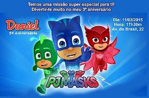 Convite digital personalizado PJ Masks – Heróis de Pijama 002