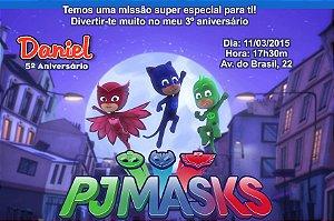 Convite digital personalizado PJ Masks – Heróis de Pijama 003