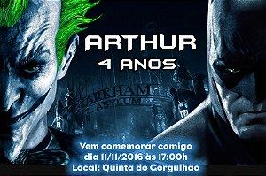 Convite digital personalizado Batman vs Coringa 002