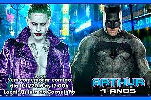 Convite digital personalizado Batman vs Coringa 005