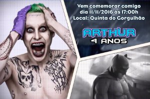 Convite digital personalizado Batman vs Coringa 006