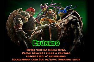 Convite digital personalizado Tartarugas Ninja 011